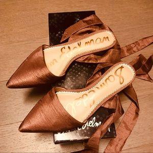 Sam Edelman Brandie Rose/Bronze Silk wrap flats